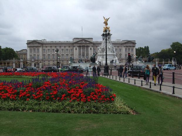 Buckingham Palace London ohne die Queen.