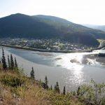 Blick über Dawson City und den Yukon - dem Zentrum des großen Goldrausch