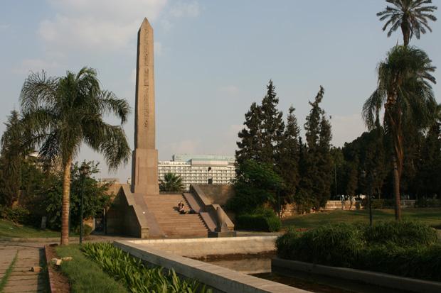 Der einzige grüne Ort in Kairo. Nirgendwo habe ich sonst Bäume oder Pflanzen gesehen.