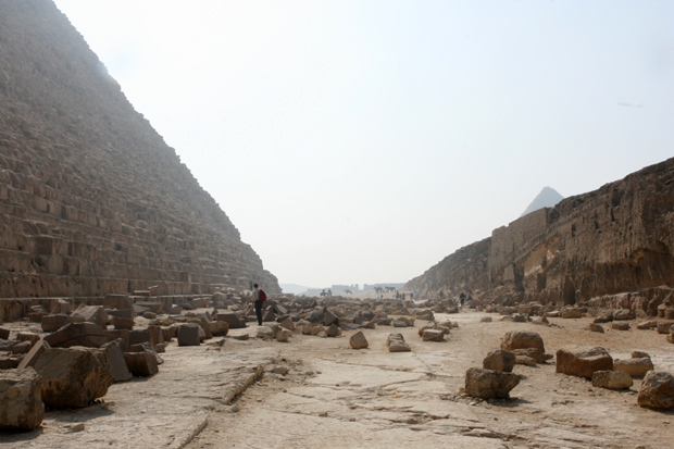 Faszinierende Trümmer auf dem Gizeh-Plateau.