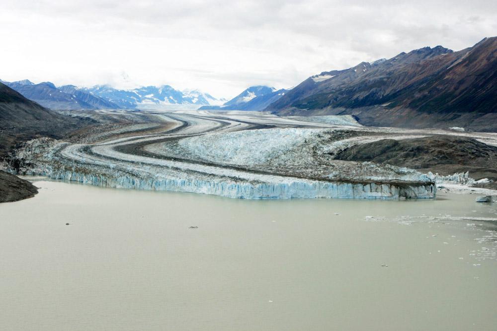 Kletscher im Kluane Nationalpark im Yukon Kanada bei Alaska