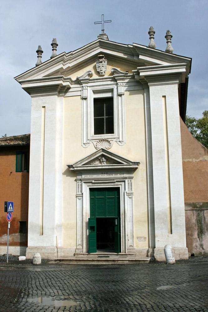 """An der Via Appia, wo heute die Kirche """"Domine quo vadis"""" steht, soll Petrus auf seiner Flucht Jesus getroffen haben."""