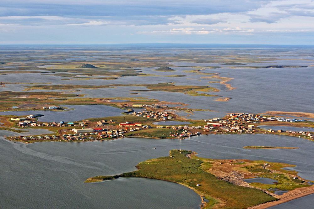 Tuktoyaktuk am Polarmeer in der Arktis in Kanada