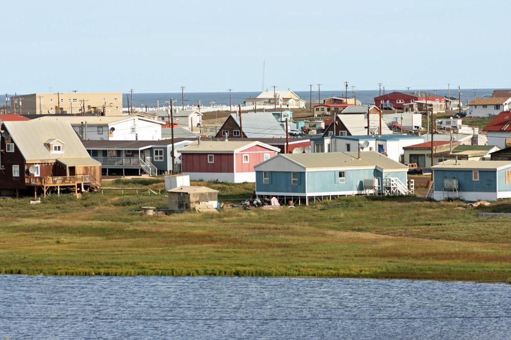Häuser der Inuit in der Arktis von Kanada in Tuktoyaktuk