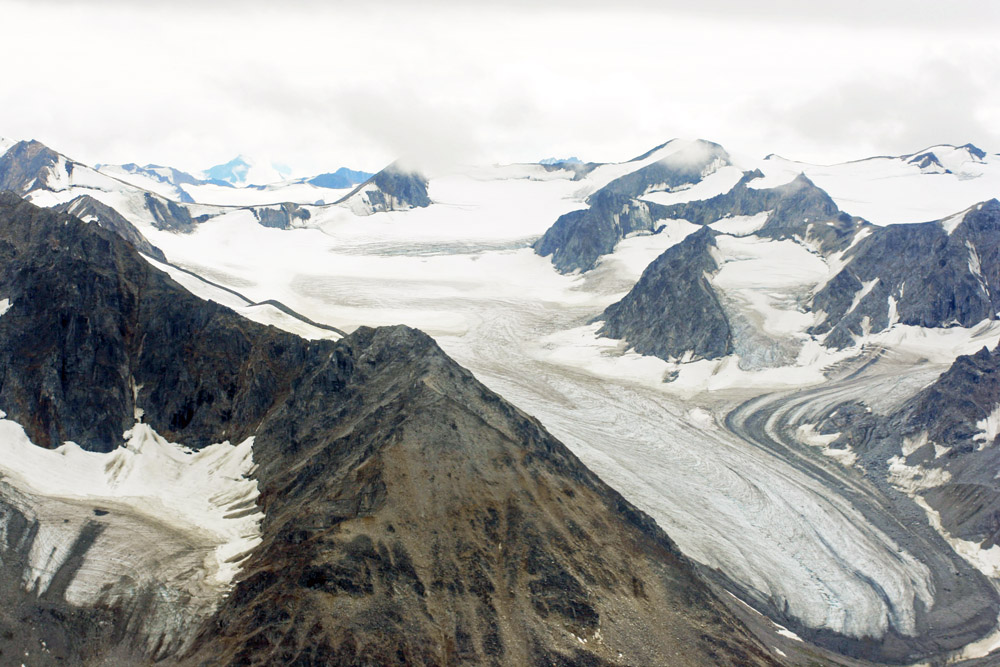 Im Kluane Nationalpark befinden sich die höchsten Berge Nordamerikas. darunter auch der Mount Logan