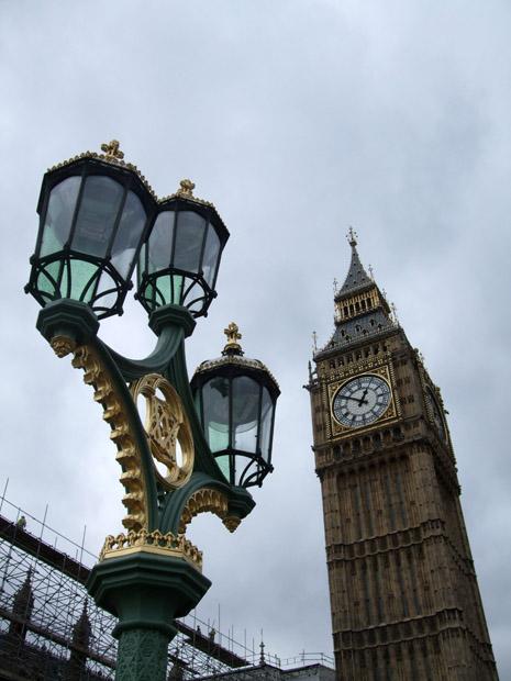 Der berühmte Glockenturm des House of Parliament in london