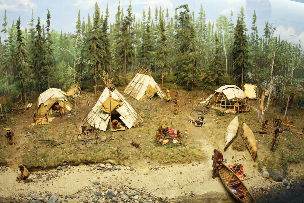 Indianerdorf mit Tipi Zelten
