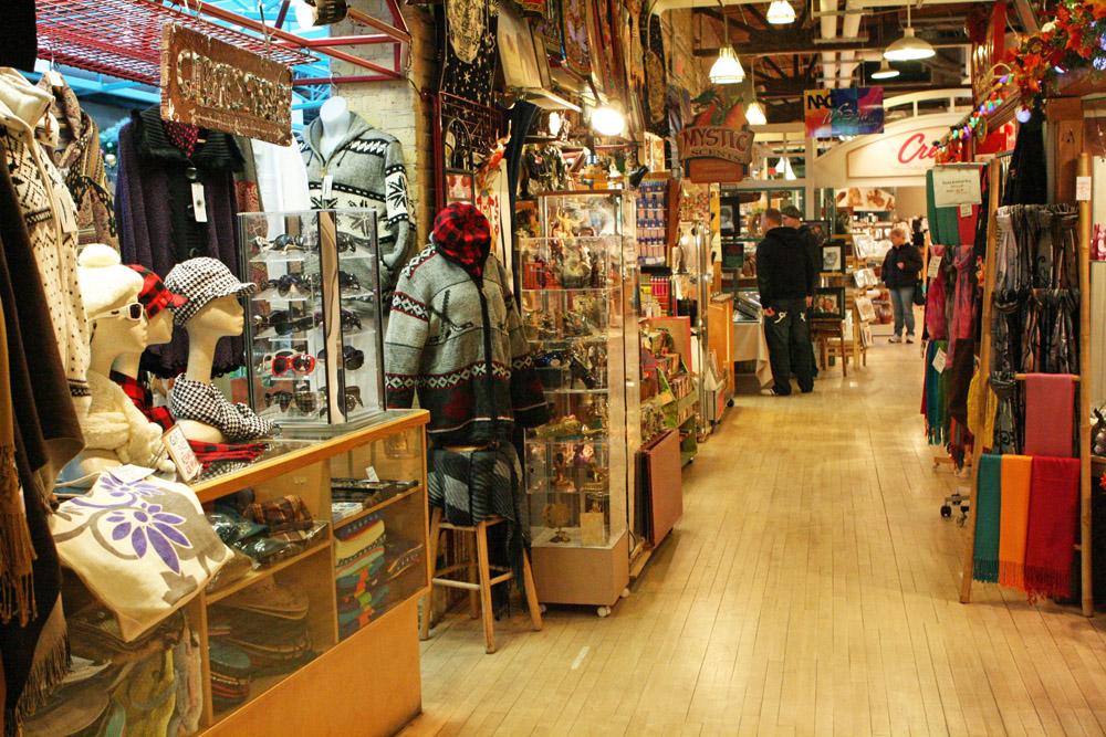 Winnipeg ist ideal für ausgedehnte Shoppingtouren. Wie Hier im Einkaufszentrum The Forks