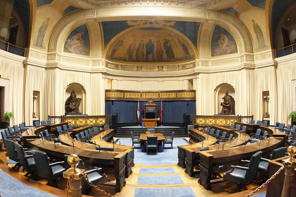 Winnipeg Parlament Manitoba von innen