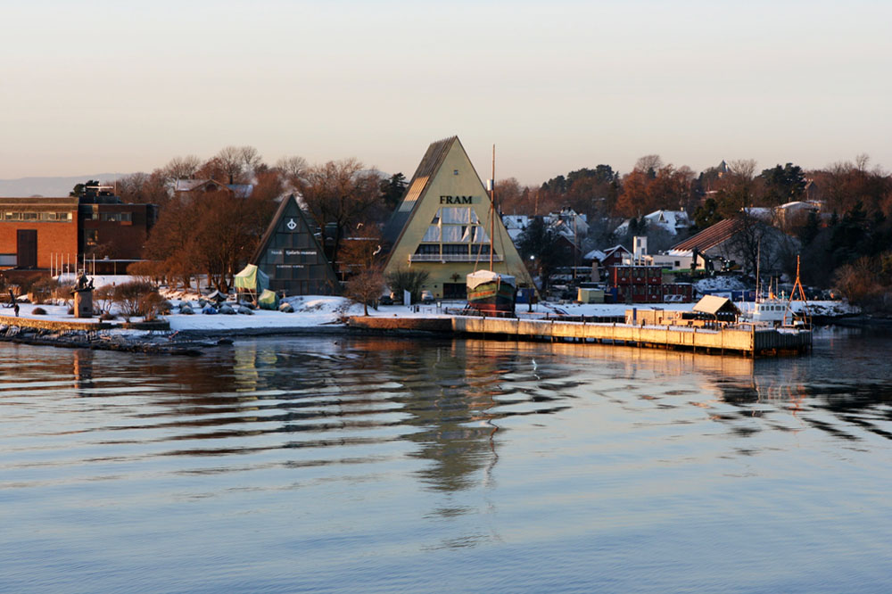 Das Fram Museum im Hafen von Oslo