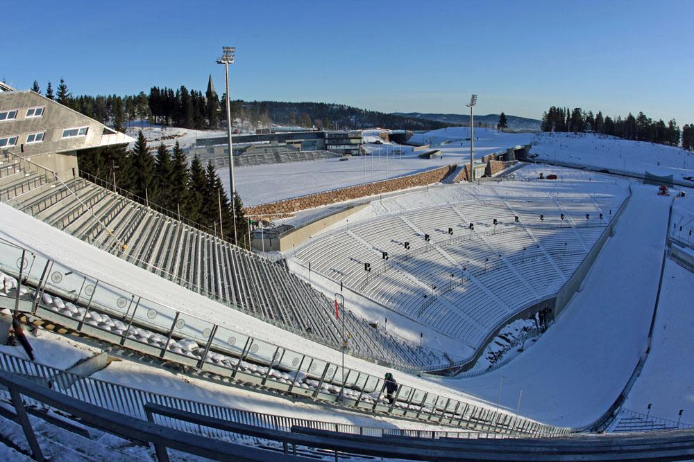 Zuschauerränge am Holmenkollen