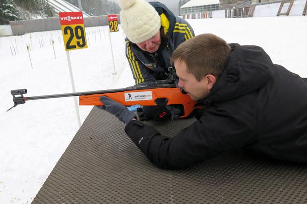 Auch im Biathlon habe ich mich einst versucht