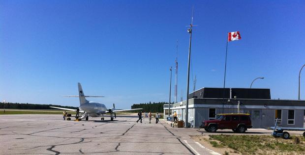 Dann wurde vom kleinen Flughafen in Fort Smith die endgültige Rückreise angetreten