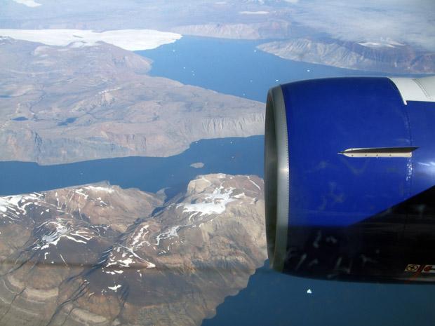 Über Grönland führte der Weg nach Kanada.