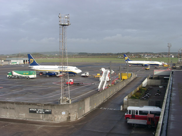 Mit Ryanair flog ich anfangs sehr oft - hier nach Glasgow.