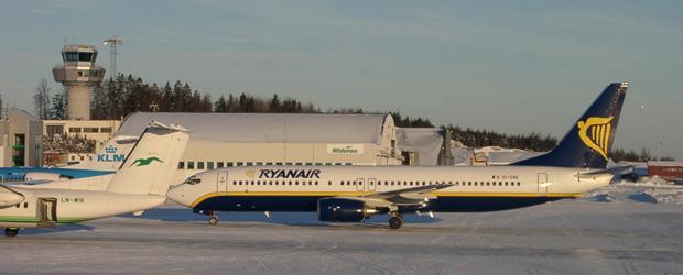 Auch nach Oslo ging es mit Ryanair.