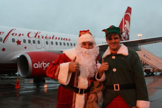 Mit dem Air Berlin Weihnachtsflieger ging es nach Helsinki.