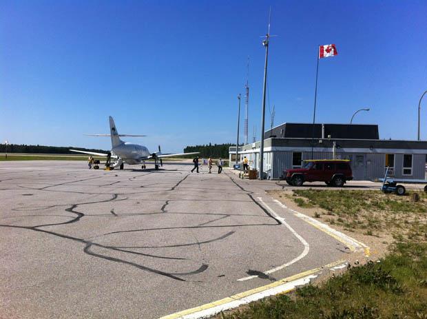 Richtig klein - der Flughafen von Fort Smith.