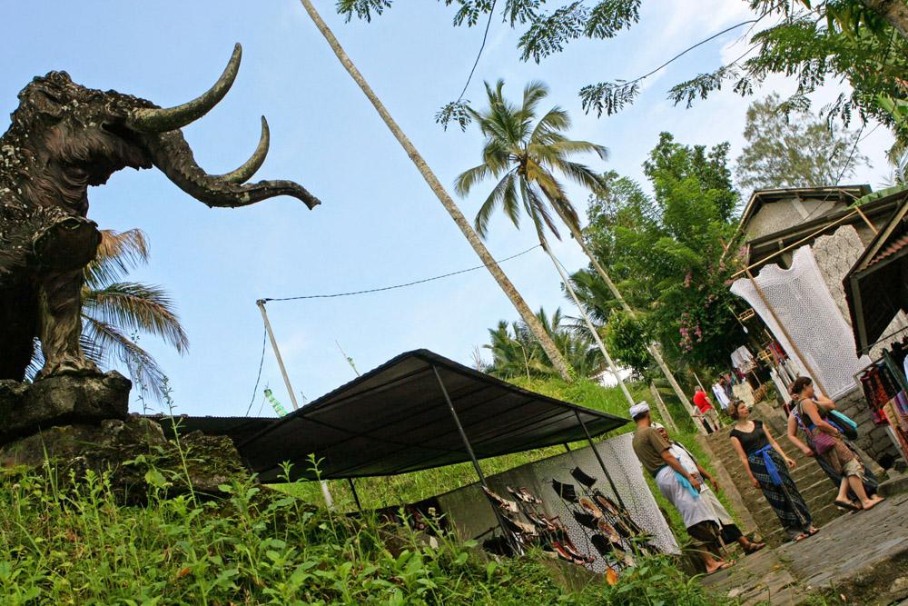 Stufe um Stufe ging es hinab zum Gunung Kawi auf Bali