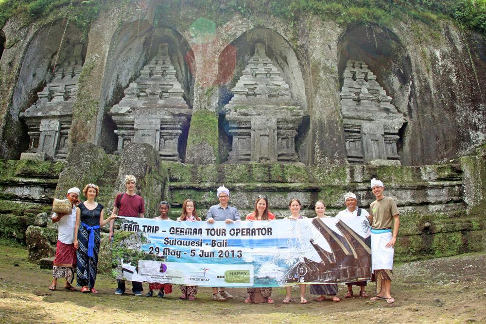 Gruppenfoto beim Famtrip nach Indonesien auf Bali