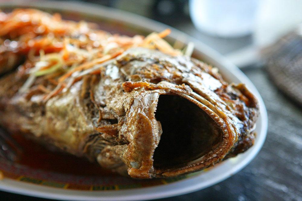 Besonders der Fisch schmeckte auf Sulawesi in Indonesien ausgezeichnet.