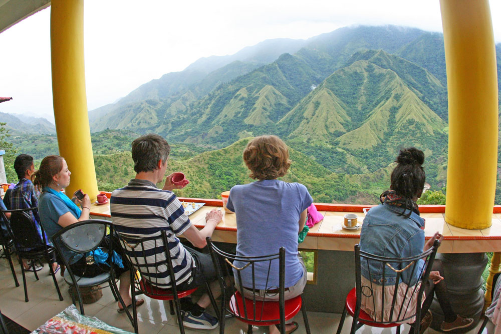 Das Hochland auf Sulawesi in Indonesien bot grandiose Aussichten.