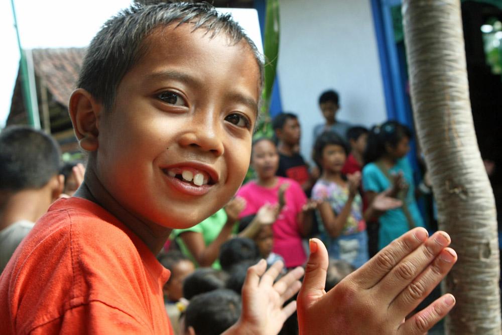 Die gute Laune der Kinder auf Bali steckte schnell an.