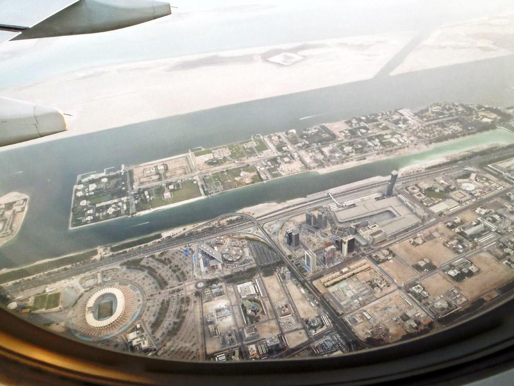 Landeanflug auf Abu Dhabi.