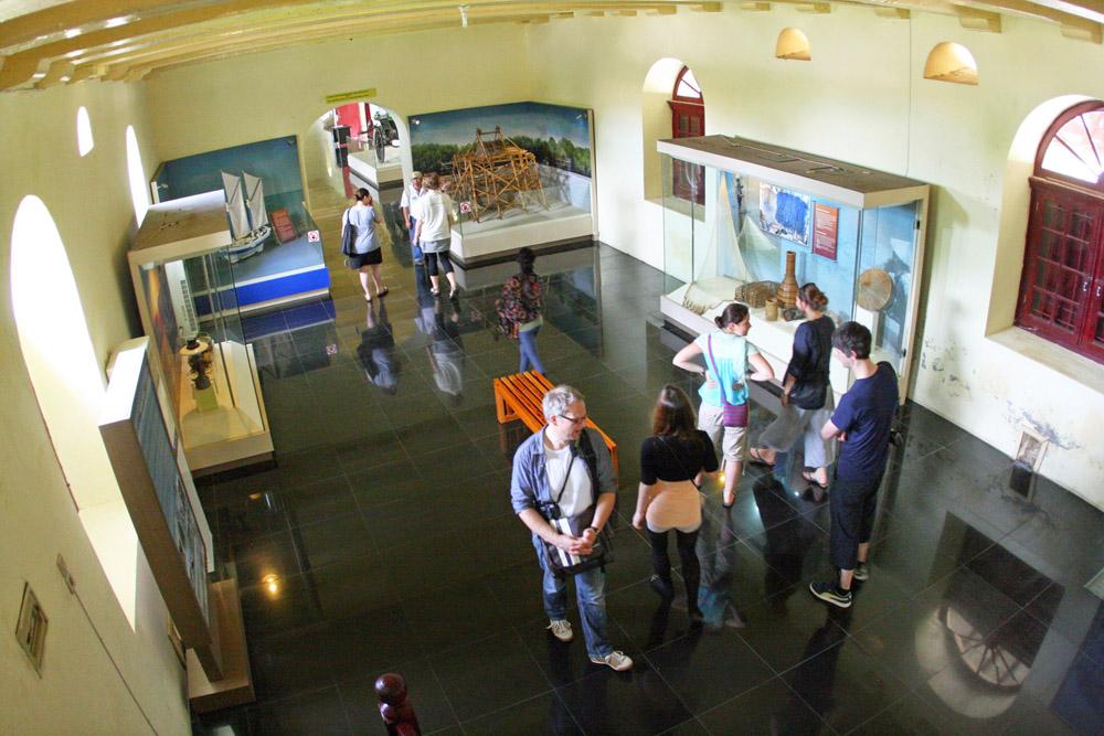 Auch das Museum im Fort Rotterdam in Makassar auf Sulawesi in Indonesien war eher langweilig.