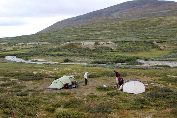 Unser zweiter Zeltplatz lag am Wasser.