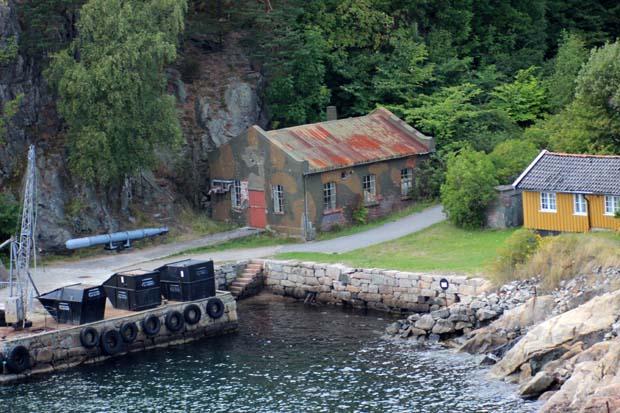 Von der Festung Oscarsborg wurde 1942 die Blücher versenkt.