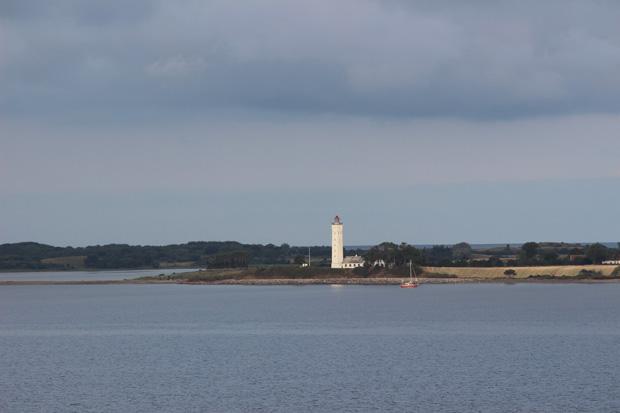 Leuchtturm auf Langeland in Dänemark.
