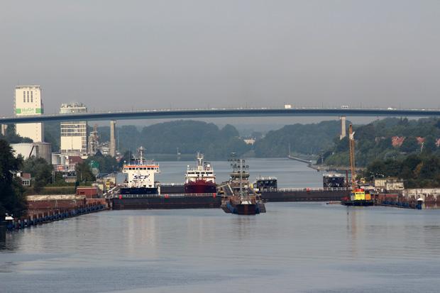 Einfahrt zum Nord-Ostsee-Kanal.