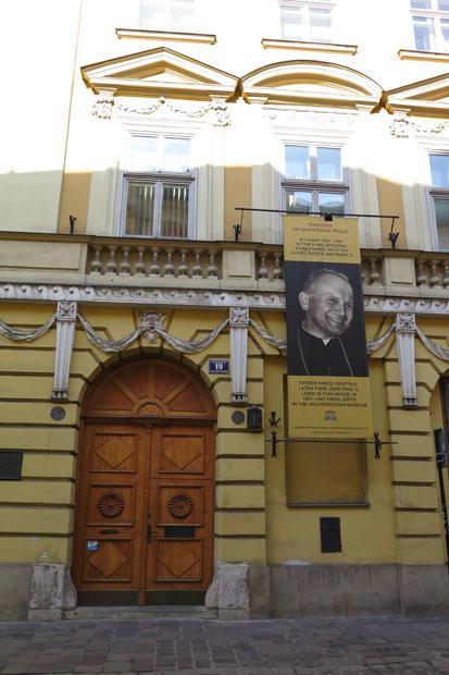 Das ehemalige Wohnhaus des späteren Papstes Johannes Paul II.