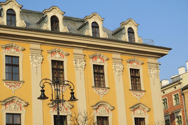 Krakau zeigt sich besonders am späten Nachmittag in leuchtenden Farben