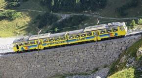 Zugfahrt in Richtung Gipfel