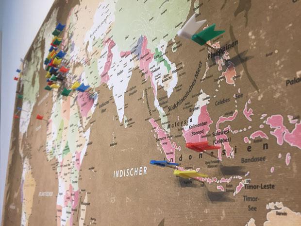 Eine Weltkarte Zum Markieren