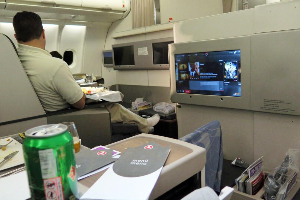 Die Business Class von Turkish Airlines ist sehr angenehm