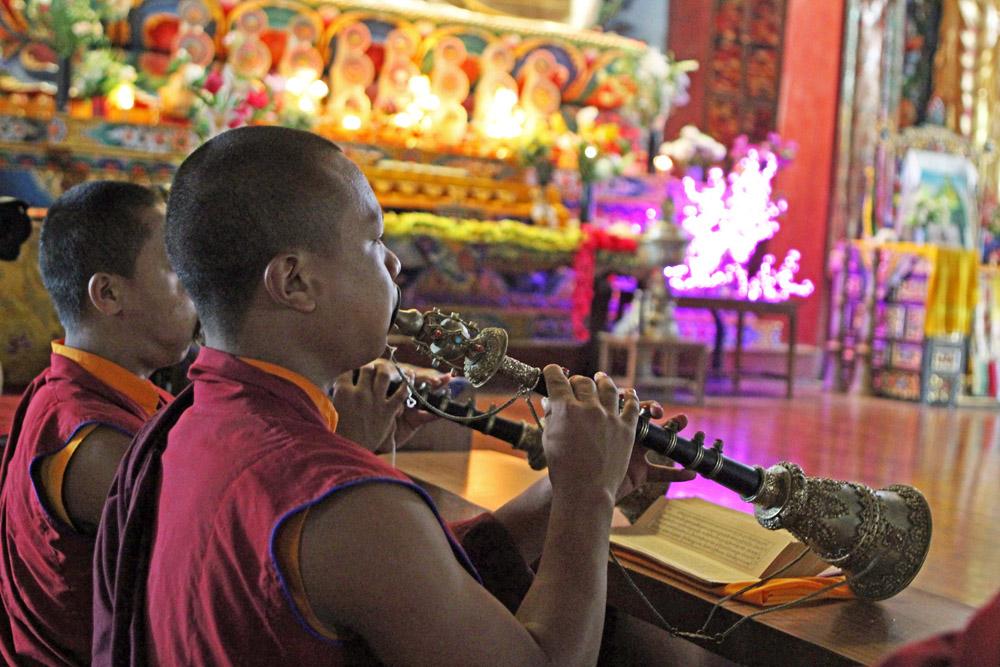 Die buddhistischen Mönche sorgten für eine atemberaubende Stimmung