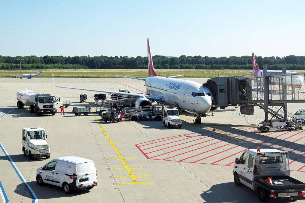Mit dieser 737-800 von Turkish Airlines flog ich von Köln/Bonn nach Istanbul