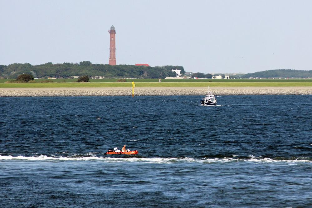 Leuchtturm auf der Insel Norderney in der Nordsee
