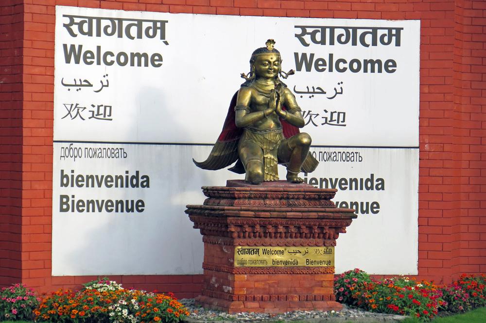 Ankunft am Kathmandu Airport
