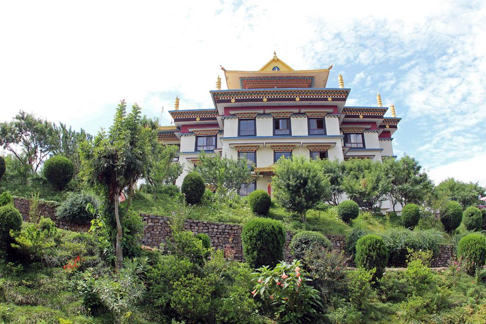Das Kloster liegt auf dem höchsten Punkt