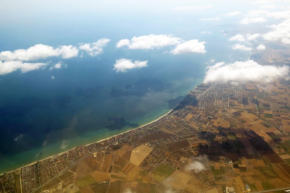 Die Küste der Türkei kurz vor Istanbul