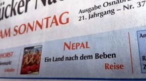 Nepal nach dem Beben