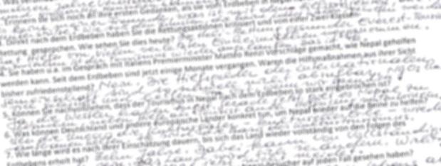Reinhold Messner beantwortete meine Fragen handschriftlich