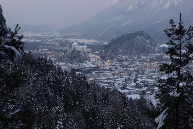 Blick von der Neapelbank auf die Festung Kufstein