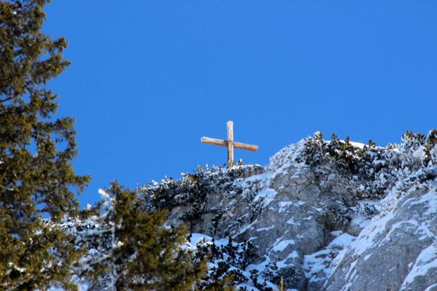 Das Gipfelkreuz war zum Greifen nah