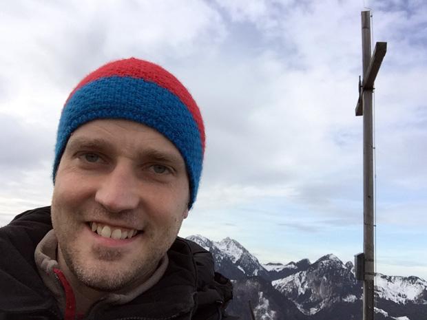 Der Autor dieses Beitrages am Gipfelkreuz