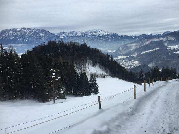 Selbst der ansonsten wunderschöne Ausblick aufs Kaisergebirge wurde gegtrübt